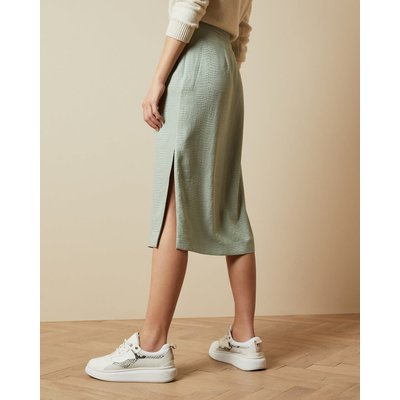 Panelled Skirt With Side Slit