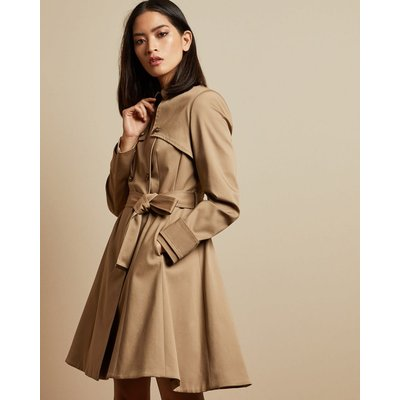 Cotton Fitted Mac Coat