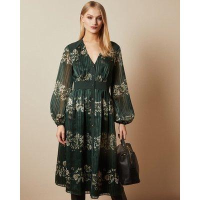 Meadow Sweep Long Sleeved Midi Dress