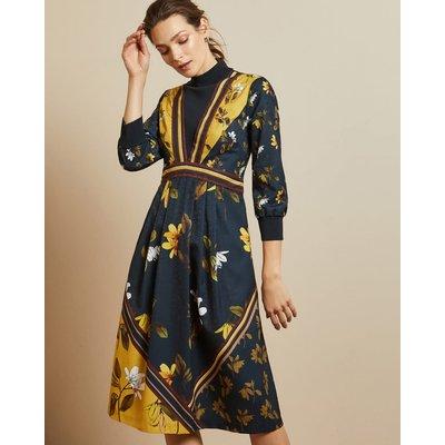 Savanna Mockable Neck Midi Dress