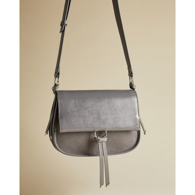 Leather And Suede Cross Body Bag