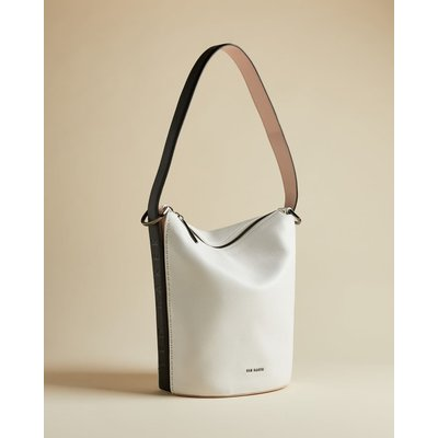Leather Shoulder Bucket Bag