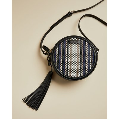 Circular Tassel Detail Shoulder Bag