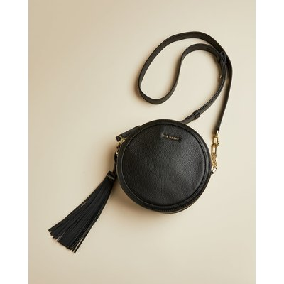 Circular Tassel Detail Cross Body Bag
