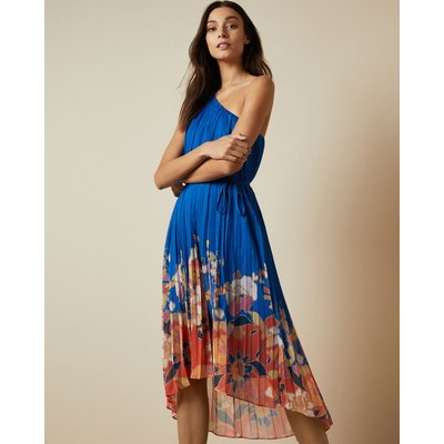 Cabana Pleated One Shoulder Midi Dress