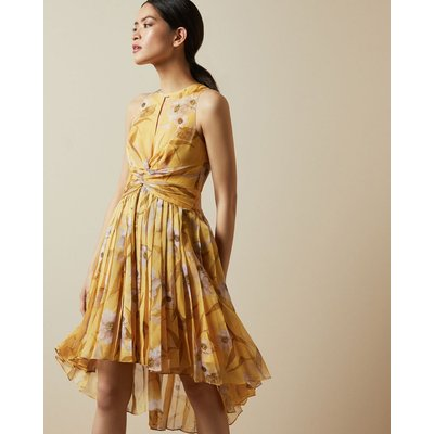 Cabana Ruched Pleated Midi Dress