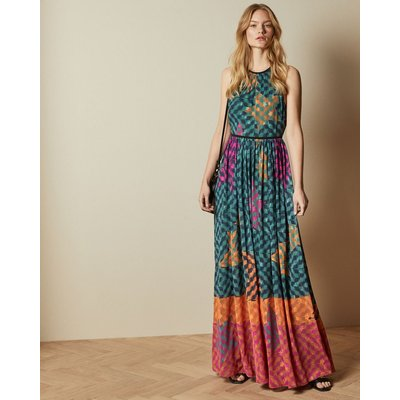 Pinata High Neck Midi Dress