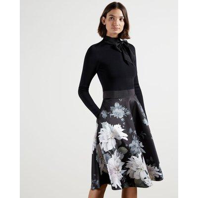Clove Full Skirted Mockable Dress