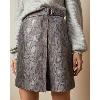 Faux Snake Wrap Skirt