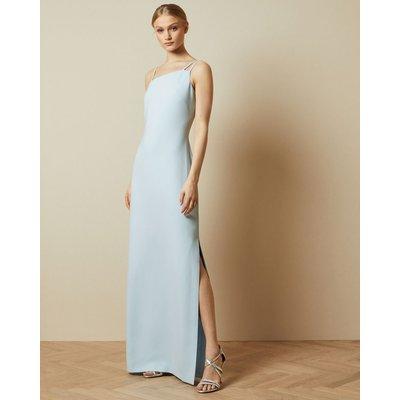 Asymmetric Strap Maxi Dress