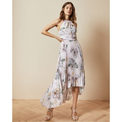 Woodland Pleated Maxi Dress