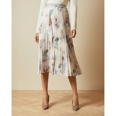 Woodland Pleated Midi Skirt