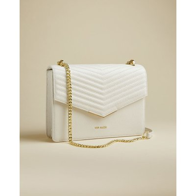 Leather Quilted Envelope Cross Body Bag