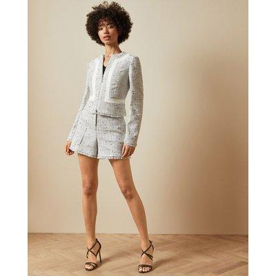 TED BAKER Shorts Mit Fransensaum