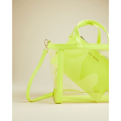 T Branded Small Transparent Tote