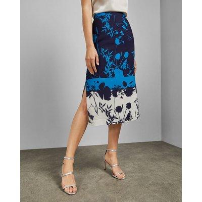 Bluebell Side Slit Midi Skirt