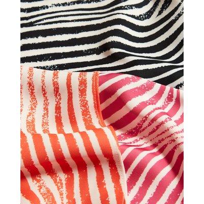 Contrast Panelled Midi Skirt