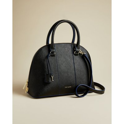 Leather Dome Cross Body Bag