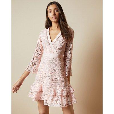 Multi Lace V Neck Tunic Dress