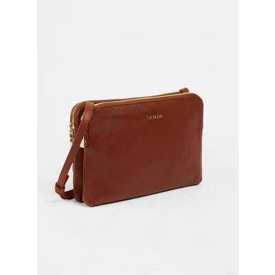 Leather Double Pouch Crossbody Bag