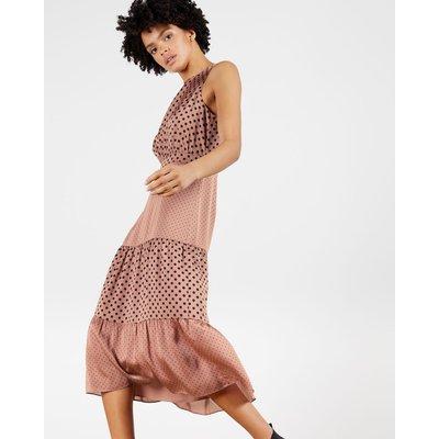 Mix Polka Dot Midi Dress