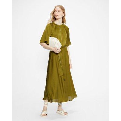 Raglan Sleeve Tea Midi Dress