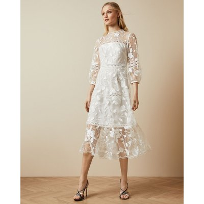 Tiered Lace Midi Dress