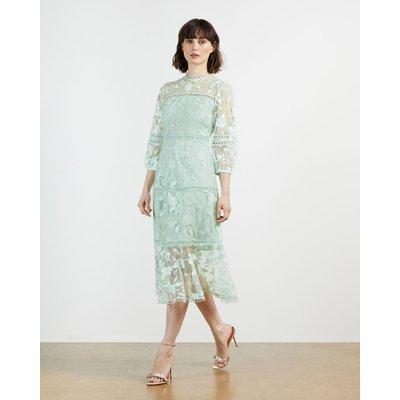 Lace Floral Midi Dress