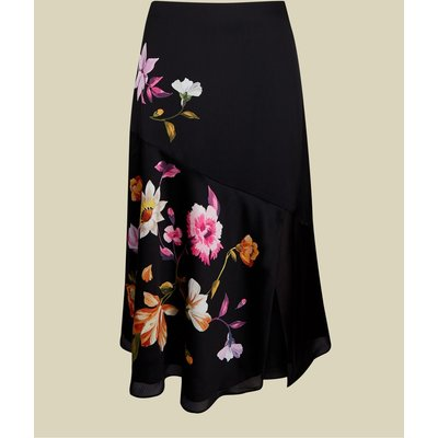 Rhubarb Panel Detail Midi Skirt