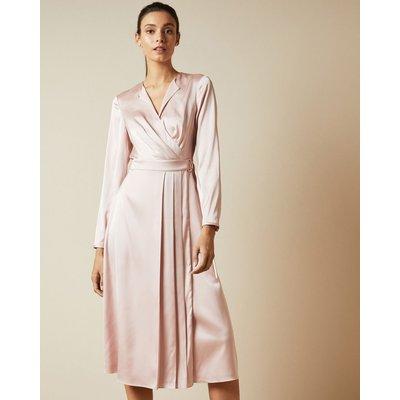 Side Wrap Pleated Dress