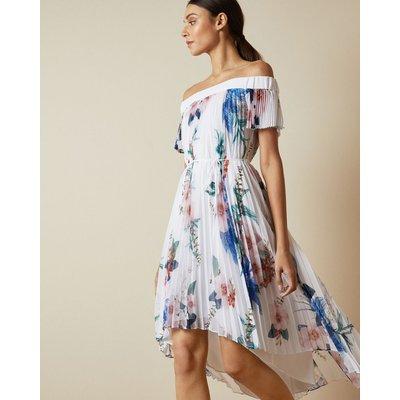 Jamboree Pleated Off The Shoulder Dress