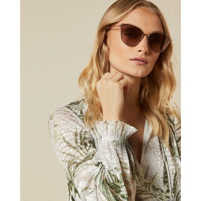 TED BAKER Cat-eye-sonnenbrille In Metallic-optik