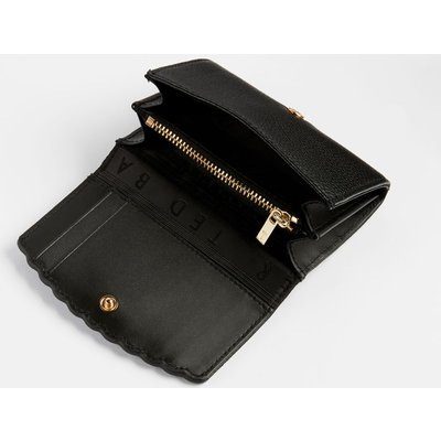 TED BAKER Leather Scallop Detail Mini Purse