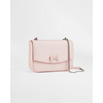 Leather Bow Detail Shoulder Bag