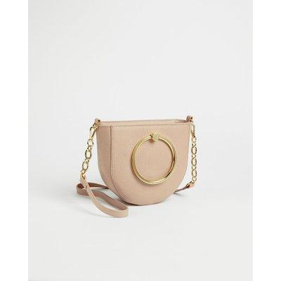 Circular Handle Shoulder Bag