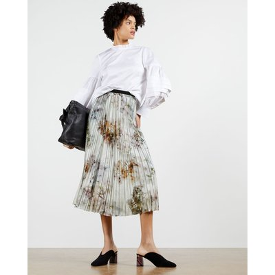 Vanilla Printed Pleated Skirt