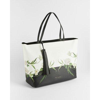 Tassel Detail Elderflower Shopper Bag