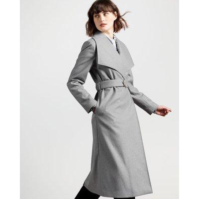 Oversized Collar Long Coat