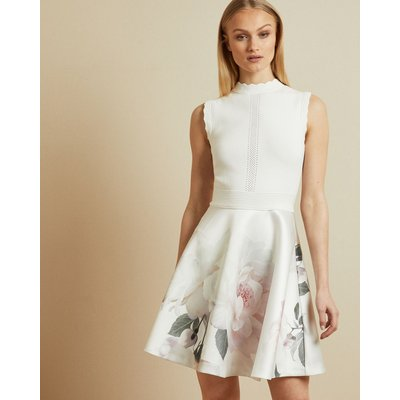Bouquet Jacquard Skirt Dress