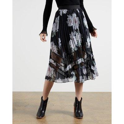 Clove Pleated Midi Skirt