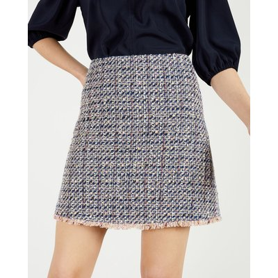 Bright Blue Boucle Skirt