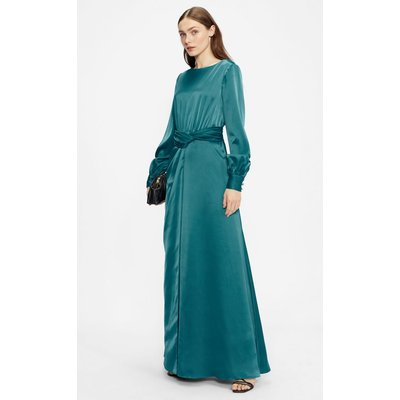 Twist Waist Long Sleeve Maxi Dress