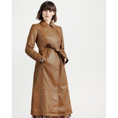 Leather Wrap Coat