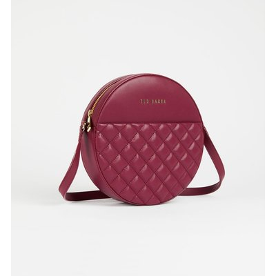 Quilted Circle Small Crossbody Bag