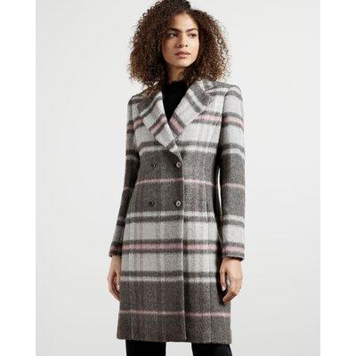 Chevron Wool Midi Coat