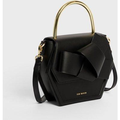 Mini Hexagon Metal Top Handle Crossbody Bag