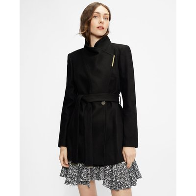 Wool Wrap Short Coat
