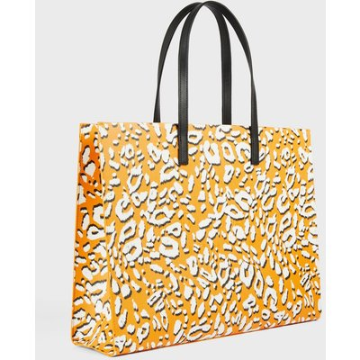 Saffiano Leopard Tote Bag