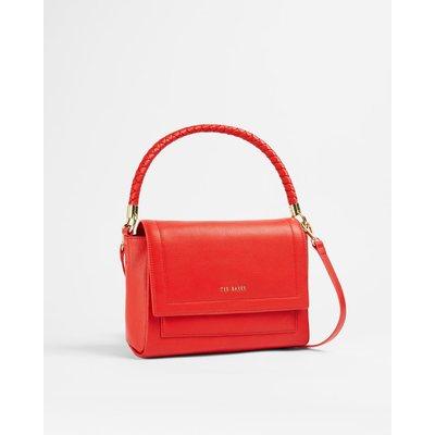 Plaited Handle Shoulder Bag