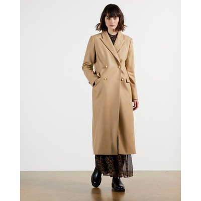 Double Breasted Peaked Lapel Coat